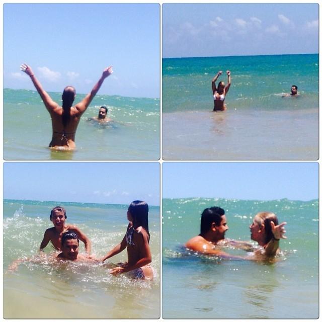 Carla Perez curte praia em família (Foto: Reprodução/Instagram)
