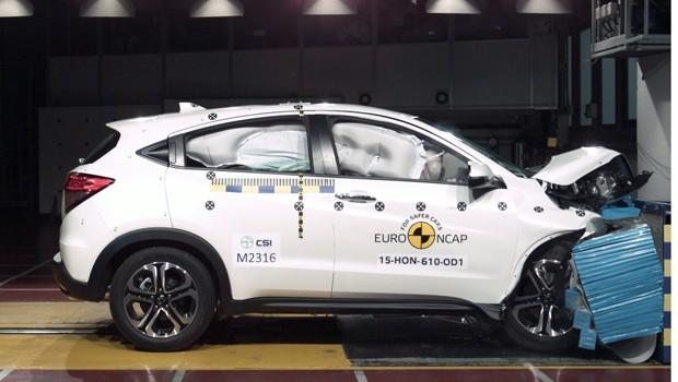 Honda HR-V recebe cinco estrelas em crash test do Euro NCAP (Foto: Divulgação)