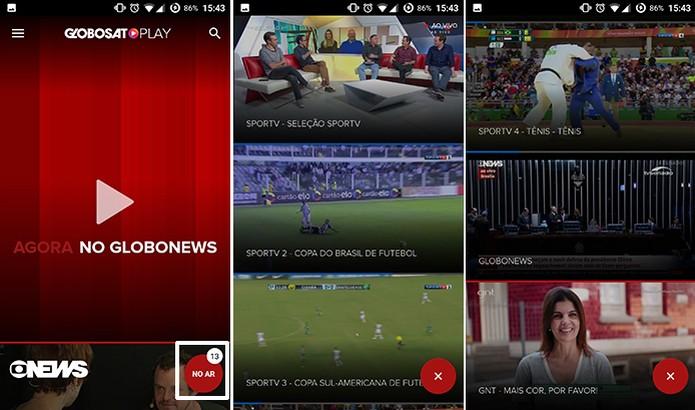 Globosat Play traz botão que destaca programação ao vivo de canais (Foto: Reprodução/Elson de Souza) (Foto: Globosat Play traz botão que destaca programação ao vivo de canais (Foto: Reprodução/Elson de Souza))