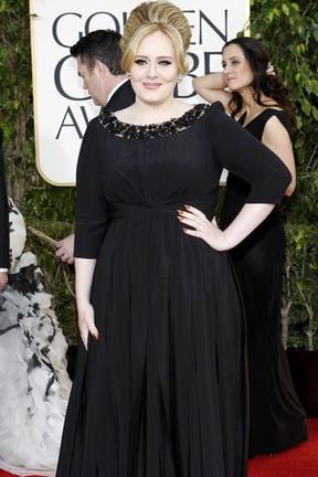 Adele no Globo de Ouro (Foto: Mario Anzuoni/ Reuters/ Agência)