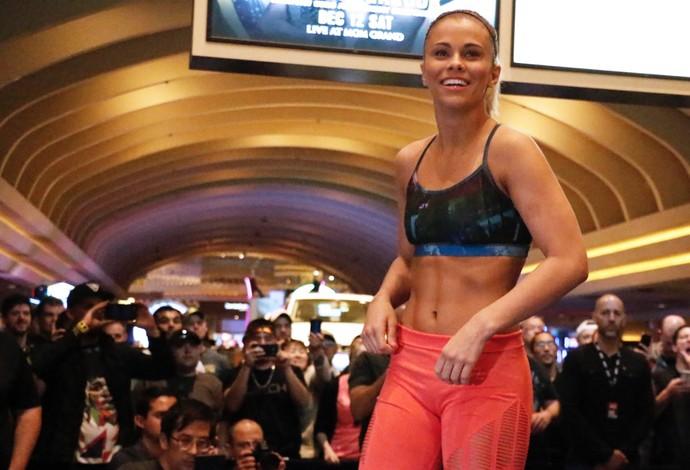 Paige VanZant Treino Aberto UFC (Foto: Evelyn Rodrigues)