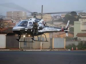 operação SkyFall São Gotardo MG polícia civil polícia militar (Foto: Roncalli Marcos/Arquivo pessoal)