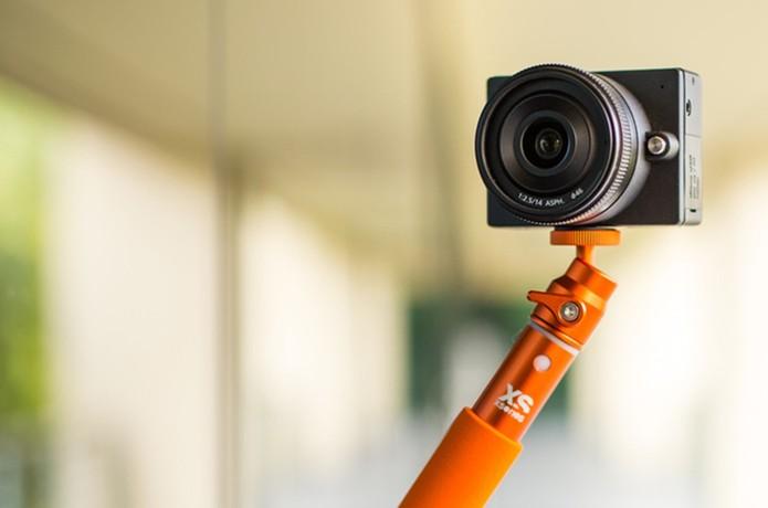 E1 pode ser encaixado em um tripé (Foto: Divulgação/Kickstarter)