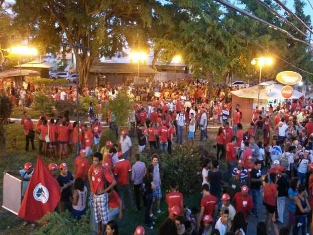 Aracaju (SE): Ato contra Impeachment da presidene Dilma Rousseff é encerrado na capital sergipana (Foto: Flávio Antunes/G1)