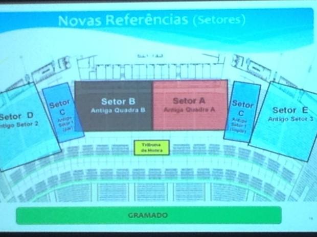 Localização das cadeiras cativas do Maracanã (Foto: Cristiane Cardoso/ G1)