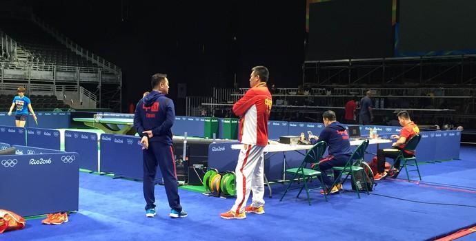 seleção da china, treino, tênis de mesa (Foto: Elton de Castro)