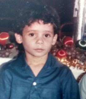 Renan Nunes quando era criança (Foto: Arquivo pessoal)