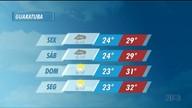 Sexta-feira (24) começa com nuvens e pode chover a qualquer hora