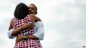 Barack e Michelle Obama (Foto: AFP)