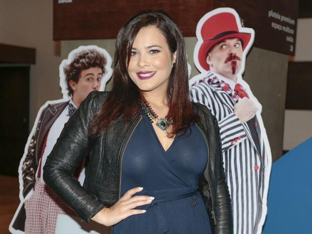 Geisy Arruda em pré-estreia de peça em São Paulo (Foto: Rafael Cusato/ Brazil News)