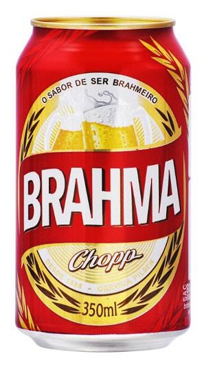 Lata vermelha da cerveja Brahma, da Ambev (Foto: Divulgação/Ambev)