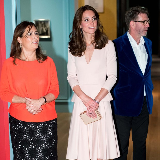 Alexandra Shulman com a Duquesa de Cambridge (Foto: Getty Images)