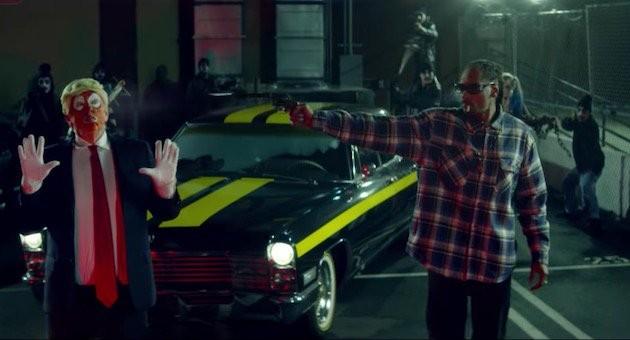 Snoop Dog tenta matar Donald Trump em videoclipe  (Foto: reprodução/youtube)