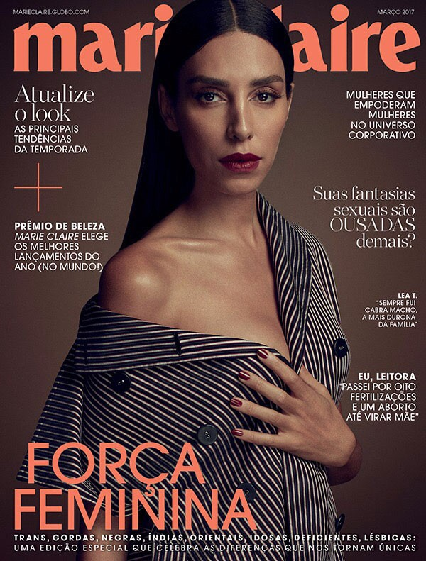 Lea T. na capa da edição de março da Marie Claire (Foto: Gustavo Zylbersztajn)
