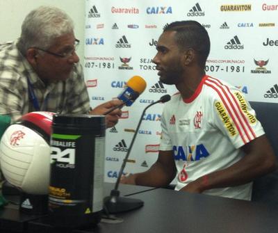 Luiz Antonio, Flamengo (Foto: Chandy Teixeira/GloboEsporte.com)