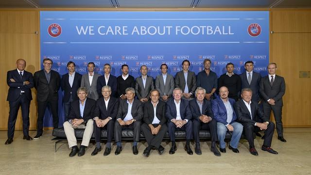 Luis Enrique, Benítez, Allegri, Blanc, Klopp, Ancelotti, Ferguson Uefa (Foto: Divulgação / Uefa)