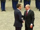Macron recebe Putin e diz que não aceita uso de armas químicas