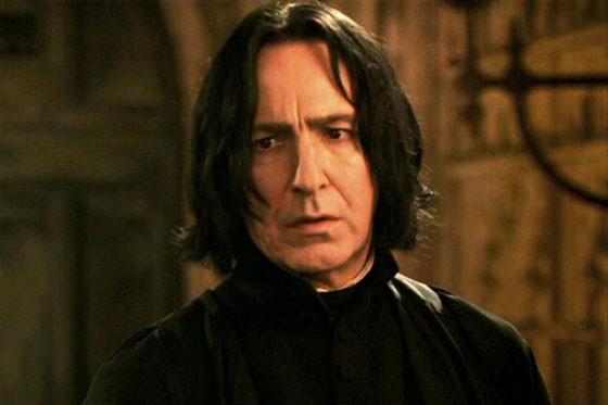 Alan Rickman como professor Snape, em Harry Potter (Foto: Warner Bros/Divulgação)