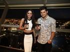 Carol Castro e Bruno Gissoni vão a evento em Las Vegas