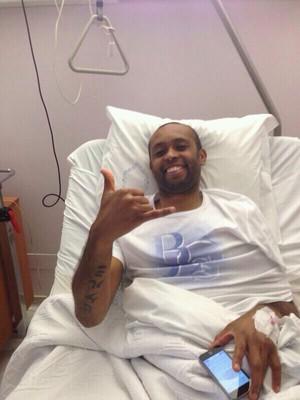 Helton, do Porto, no hospital (Foto: Arquivo Pessoal)