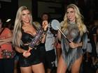 Irmãs Minerato sensualizam em looks ousados em noite de samba