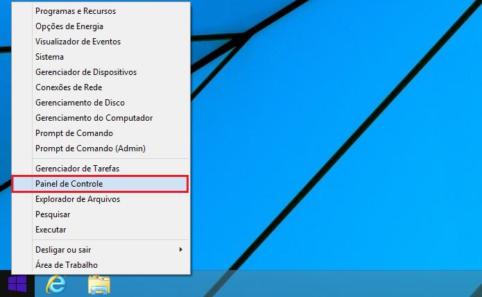 Acessando o Painel de Controle no Windows 8 (Foto: Reprodução/Edivaldo Brito)