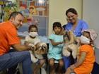 Terapia com cães ajuda no tratamento de crianças no HRBA em Santarém