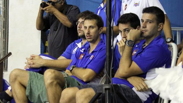 Duda, Atílio e Fred, Macaé x Tijuca, final do Torneio Carioca de basquete (Foto: Tiago Ferreira/Divulgação)