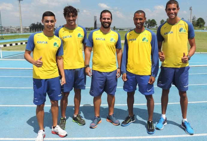 Alguns dos atletas do Brasil no Centro de Alta Performance de Michael Johnson (Foto: Divulgação)