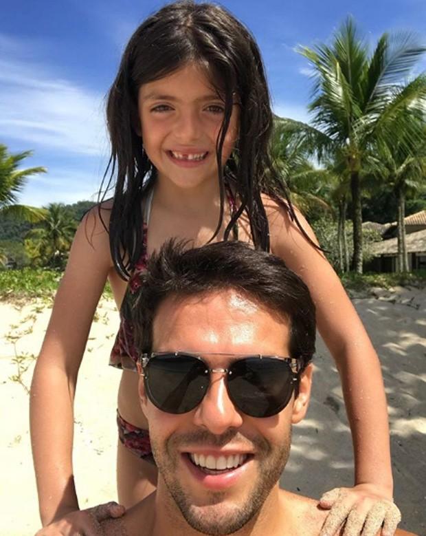 Kaká postou foto com a filha Bella (Foto: Reprodução/Instagram)