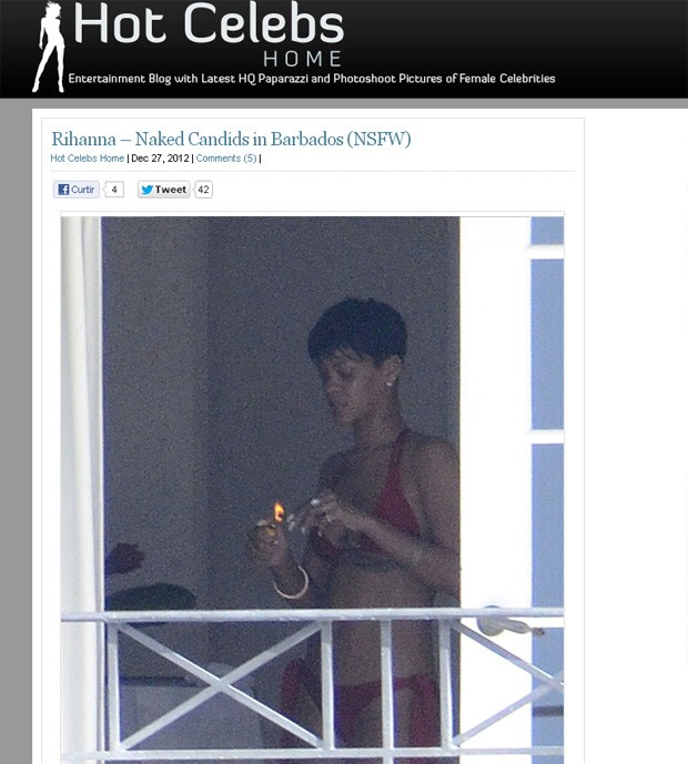 Rihanna (Foto: Hot Celebs/ Reprodução)
