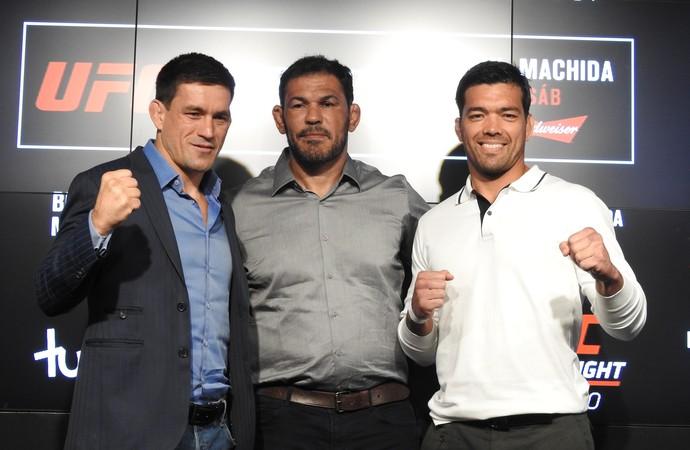 Demian Maia Rodrigo Minotauro Lyoto Machida Media Day UFC São Paulo (Foto: Alexandre Fernandes)