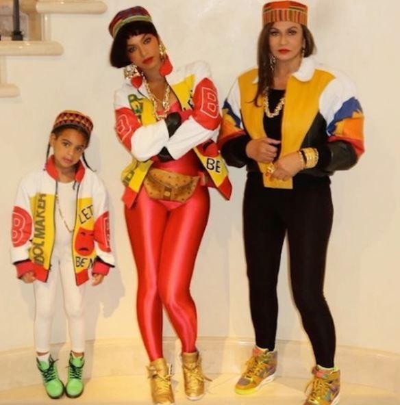 Blue Ivy, Beyoncé e Tina Knowles (Foto: Reprodução/Instagram)