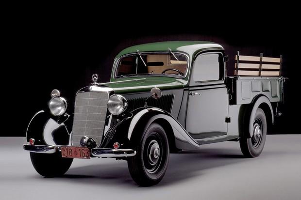 Picape 170D foi a primeira feita na Argentina pela Mercedes, ainda em 1952 (Foto: Divulgação)