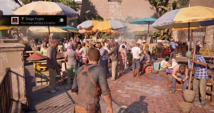Não mexa no controle para destravar este troféu de Uncharted 4 (Foto: Reprodução/YouTube)
