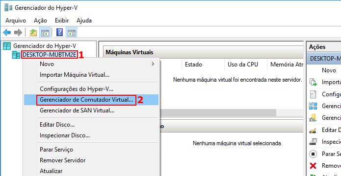 Acessando o Gerenciador de Comutador Virtual (Foto: Reprodução/Edivaldo Brito)