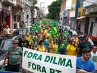 Ato contra Dilma em Piracicaba inicia com confusão, mas termina pacífico