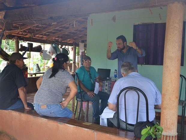 Equipe Incra assentamento Santa Vitória (Foto: Incra/Divulgação)