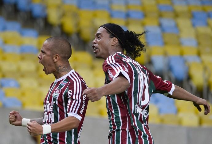 Ronaldinho Marcos Junior Fluminense Grêmio (Foto: Ag Estado)