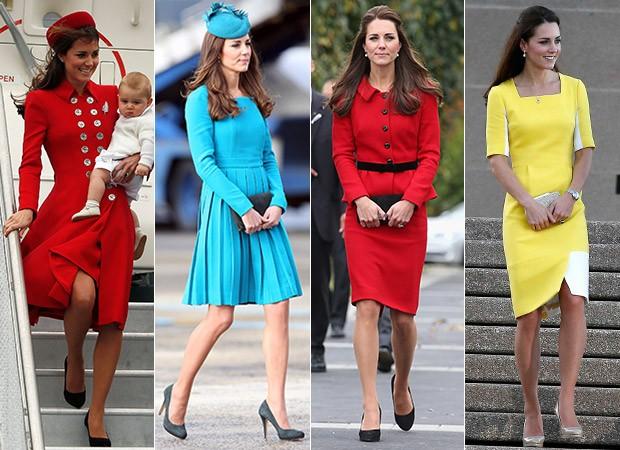 Kate Middleton em tour pela Oceania (Foto: AKM-GSI / AKM-GSI - Agência Reuters - Agência Getty Images)