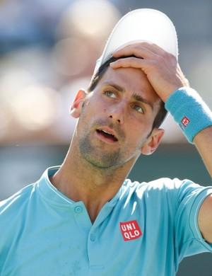 Novak Djokovic contra Nick Kyrgios em Indian Wells (Foto: @BNPPARIBASOPEN)
