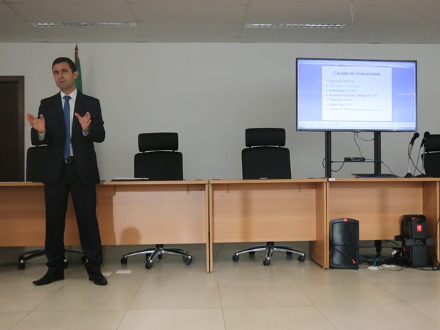 Juiz Luís Gustavo Pedro Lacerda  (Foto: Igor Grossmann/G1)
