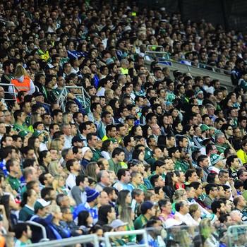Torcida Arena Palmeiras x Internacional (Foto: Marcos Ribolli)