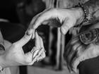 Ex-BBBs Aline Gotschalg e Fernando Medeiros se casam no civil