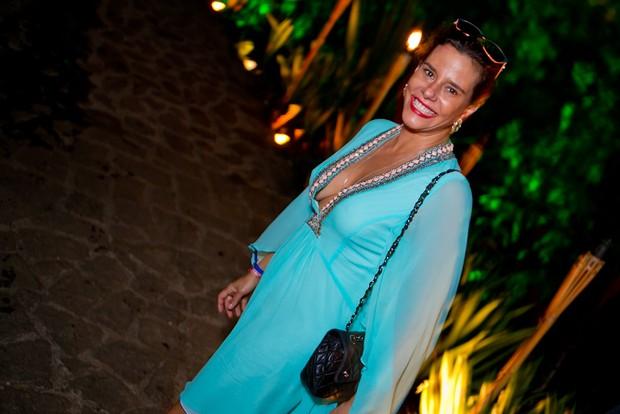 Narcisa Tamborindeguy em festa de réveillon em Angra dos Reis, no Rio de Janeiro (Foto: Wanderson Monteiro/ Divulgação)