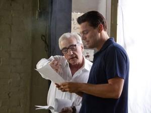 Martin Scorsese dirige Leonardo DiCaprio em 'O lobo de Wall Street' (Foto: Divulgação)