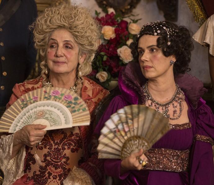Alexandra e Carlota Joaquina são aliadas (Foto: Felipe Monteiro/Gshow)