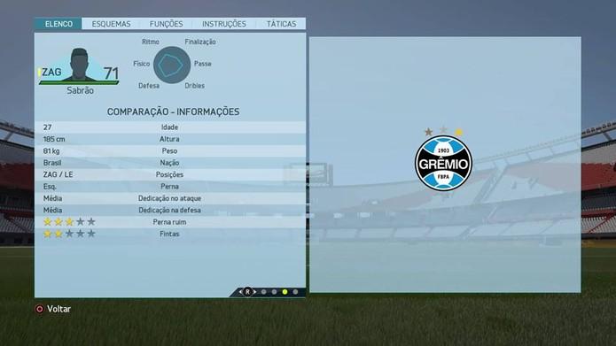 Zagueiro Sabrão - Grêmio (Foto: Reprodução/Lucas Mendes)
