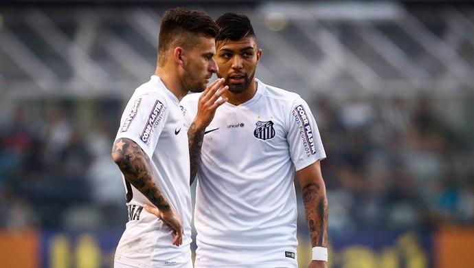 santos x fluminense lucas lima gabriel (Foto: Ricardo Saibun/Santos FC)
