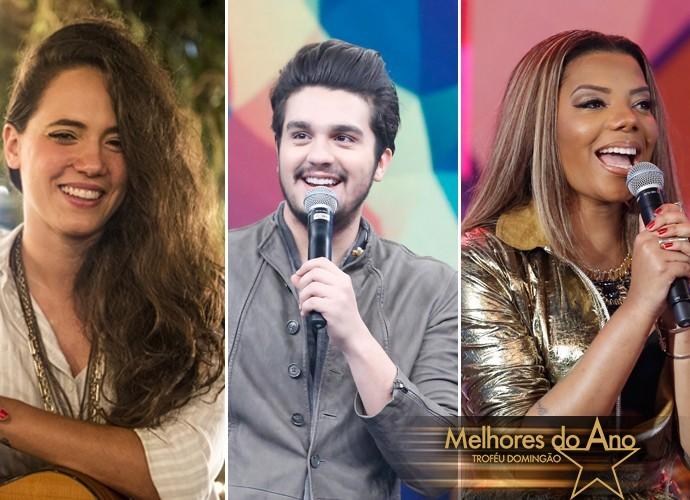Tiê, Luan Santana e Ludmilla concorrem ao prêmio na categoria 'Música do Ano'  (Foto: Renato Rocha Miranda/Carol Caminha/TV Globo/Gshow)